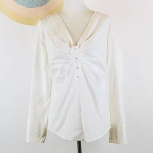 Soft Surroundings white long sleeve top